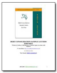 Debt Conslolidation Sample Letters for F... by Jason Holmes and Peter Samuels
