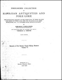 Fornander Collection of Hawaiian Antiqui... by Abraham Fornander