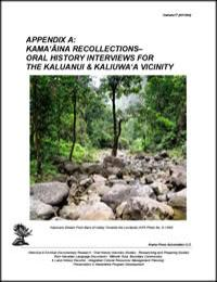 Kamaaina Recollections- Oral History Int... by Kepa Maly