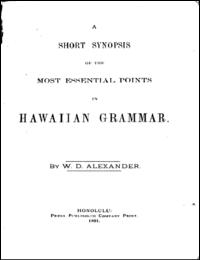 A Short Synopsis of the Most Essential P... by Alexander, W. D.