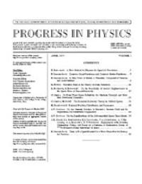 Progress in Physics : The Journal on Adv... Volume I by Florentin Smarandache