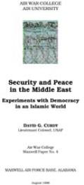 Security and Peace in the Middle East : ... by David G. Curdy