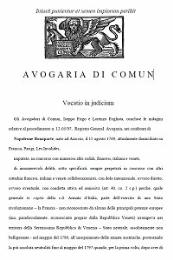 Avigaria Di Comun : Vocatio in judicium by Frigo, Iseppo