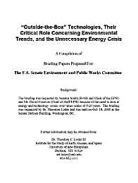 """Outside-the-Box"" Technologies, Their Cr... by Loder III, Theodore, C."