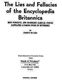 The Lies and Fallacies of the Encycloped... by McCabe, Joseph