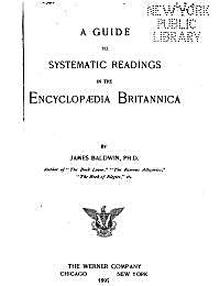 A Guide to Systematic Readings in the En... by Baldwin, James, Ph.D.