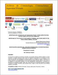 La responsabilidad del egresado de Crimi... Volume XI, August-December 2013 by Tolentino , Jorge Alberto , Pérez, Dr.