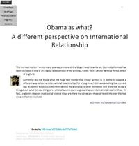 Obama as What? : A Different Perspective... by Ved from Victoria Institutions