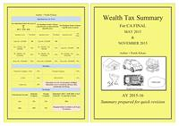 Wealth Tax Summary : For CA Final May 20... by Kikani, Pratik, Kaushikkumar