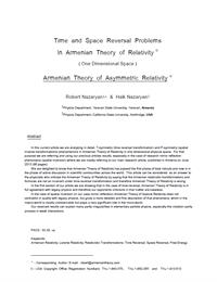 Time and Space Reversal Problems in Arme... by Nazaryan, Robert