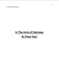 In The Arms of Darkness Volume 1 by Raza, Qazi