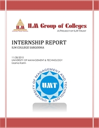 Internship Report on ILM College (Sargod... by Karim, Usama