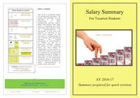 Salary Summary : For Taxation Students by Kikani, Pratik, Kaushikkumar