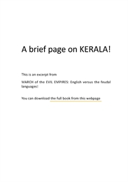 A Brief Page on Kerala by Ved from Victoria Institutions