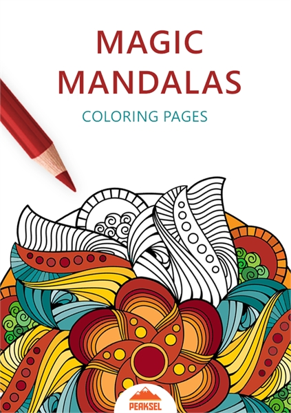 Magic Mandalas Coloring Pages Book For Adults Volume 1