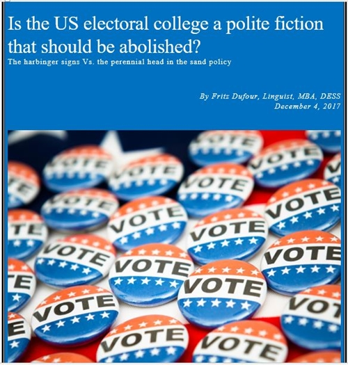 Is The US Electoral College A Polite Fic... by Dufour, Fritz