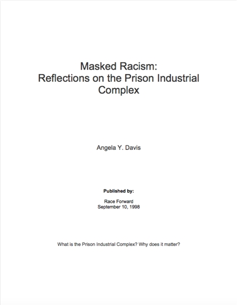 Masked Racism : Reflections on the Priso... by Davis, Angela