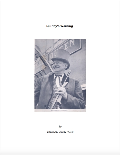 Quinby's Warning by Quin, Edwin  , Jay