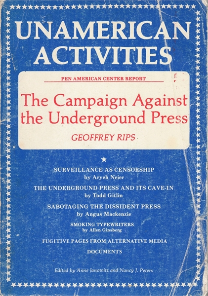 Unamerican Activities : The Campaign Aga... by Rips, Geoffrey