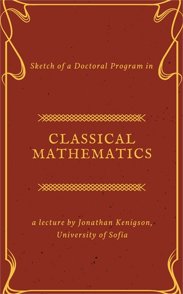 Sketch of a Doctoral Program in Classica... by Kenigson, Jonathan, Jacob