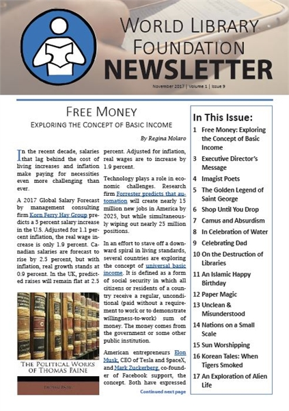 World Library Foundation Newsletter : Ma... by World Library Foundation Newsletter Dept.