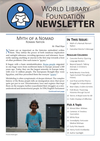 World Library Foundation Newsletter : Ju... by World Library Foundation Newsletter Dept