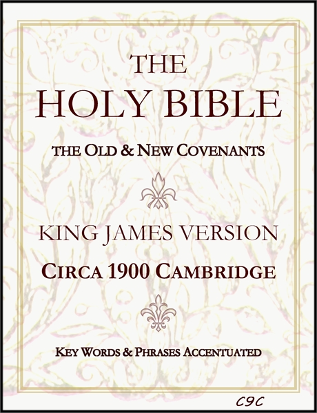 Circa 1900 Cambridge King James Bible : Key Words & Phrases