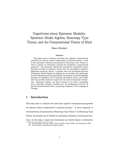 Cognitivism about Epistemic Modality: Ep... by Khudairi, Hasen
