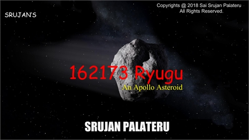 162173 Ryugu : An Apollo Asteroid by Palateru, Sai, Srujan