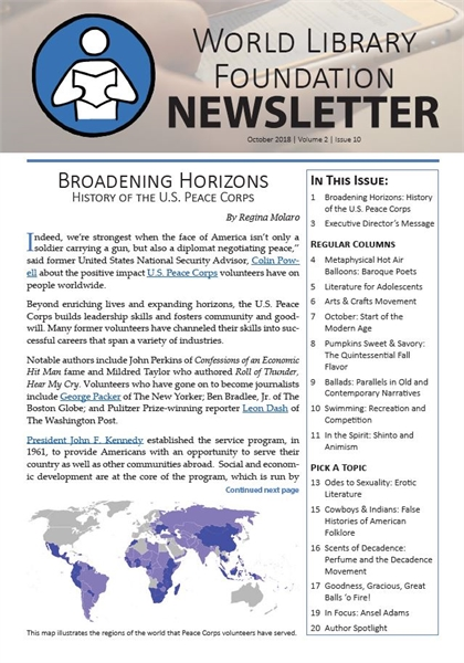 World Library Foundation Newsletter : Oc... by World Library Foundation Newsletter Dept.