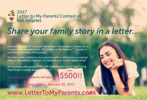 2017 Letter to My Parents Contest Los An... by Org., Letter to My Parents Contest