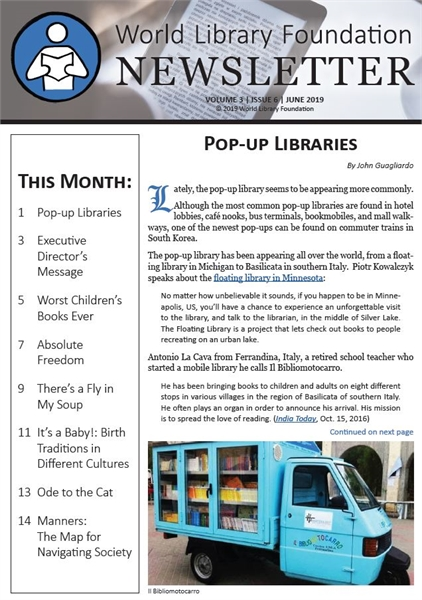 World Library Foundation Newsletter : Ju... by World Library Foundation Newsletter Dept.