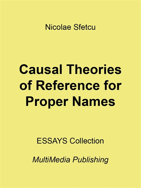Causal Theories of Reference for Proper ... by Sfetcu, Nicolae