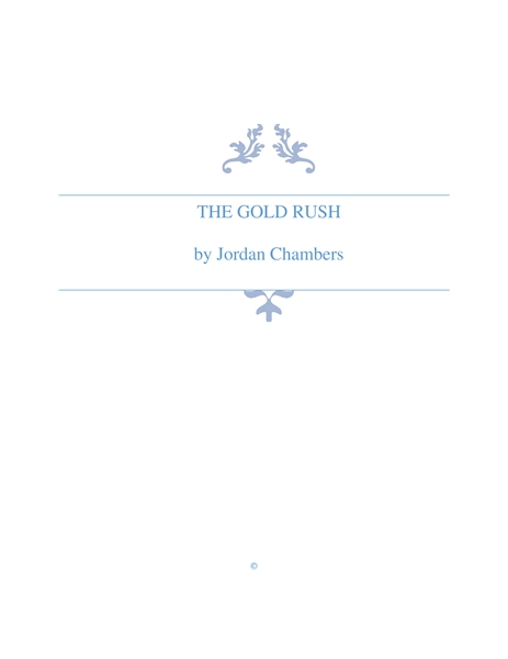 The Gold Rush by Chambers, Jordan