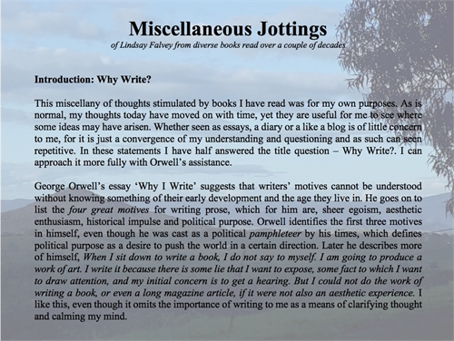 Miscellaneous Jottings : of Lindsay Falv... by Falvey, Lindsay, Dr.