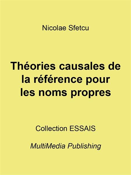 Théories causales de la référence pour l... by Sfetcu, Nicolae
