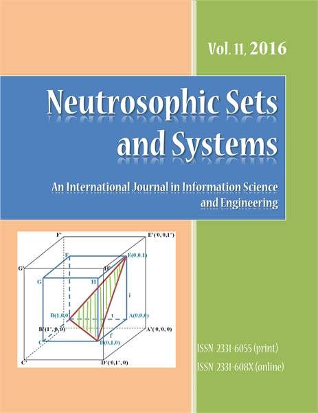Neutrosophic Sets and Systems, Vol. 11, ... by Smarandache, Florentin