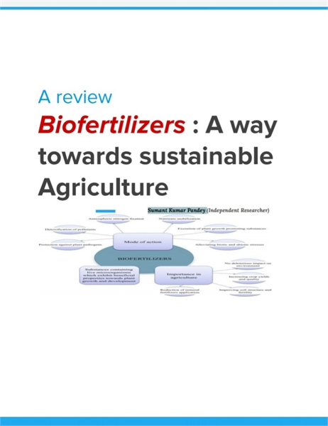 Biofertilizers: A way towards Sustainaba... by Kumar Pandey, Sumant